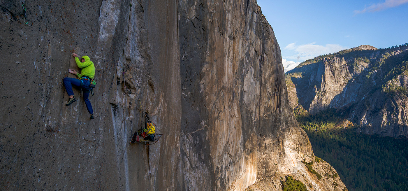 Dawn Wall, El Capitan, Yosemite National Park. California. JEFF JOHNSON