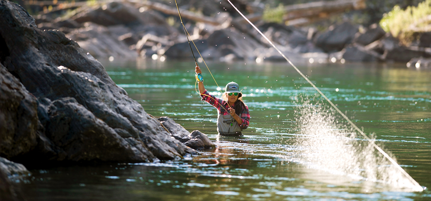 Hilary Hutcheson on the Middle Fork of the Flathead, Montana. LEE COHEN